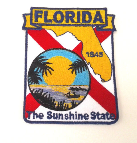 """FLORIDA STATE MAP (3-3/8"""") Biker Patch PM6710 EE"""