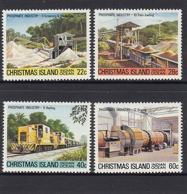 CHRISTMAS Island 1981 Phosphate MINING INDUSTRY set of 4 MNH -. ()