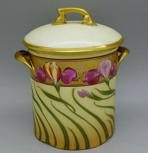Pickard Iris Conventional Art Nouveau Signed Beulet c.1905 Handled Jar RARE