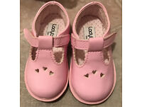 Pink patent ladybird shoes, toddler size 3