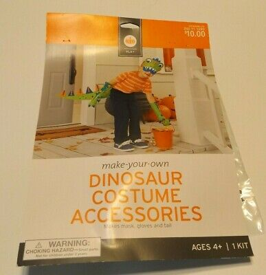 Costume Making Foam (New Make Your Own DINOSAUR Costume Accessories Kit Mask, Gloves & Tail FOAM)