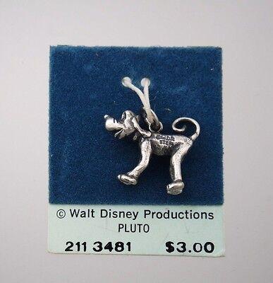 Vintage Sterling Silver Pluto Disney Charm