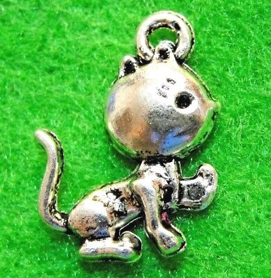Подвески 10Pcs. Tibetan Silver CAT KITTY
