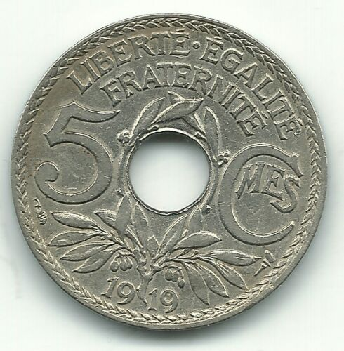 A HIGH GRADE 1919 FRANCE 5 CENTIMES COIN-MAR560