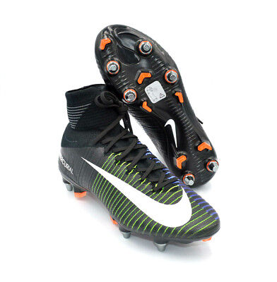 67e82bdcc Nike Mercurial Superfly V SG-PRO Black Green Soccer Cleats  831956-014  Size  6