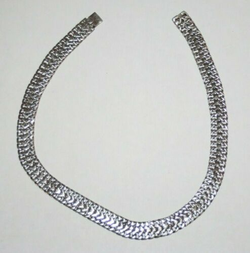 OLD Mexico 925 Sanborns Eagle 22 Sterling Silver Heavy Chain Necklace Chocker
