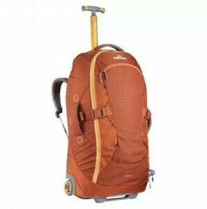 Kathmandu Hybrid Trolley Bag Brick/Gold 50ltr New RRP $449