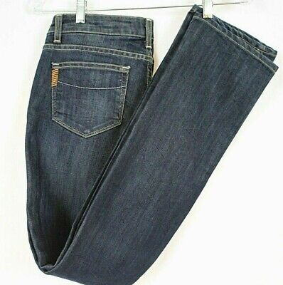 Paige Premium Denim Womens Jeans Sz 28 Blue Heights Medium Dark Wash EUC - Paige Premium Denim Blue Jeans