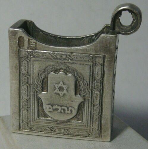 Box Pendant Judaica Hamsa Silver 84 Imperial Russia 1906