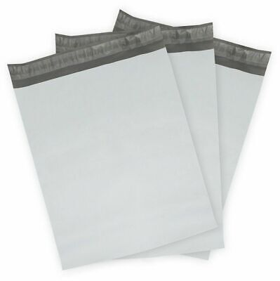 100 X 9 X12 White Poly Mailers Bag Self Seal Shipping Bags 1.6 Mil