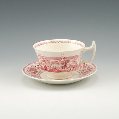 Wedgwood Radcliffe College 1934 Cup and Saucer Red & White