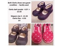 Girls Clarks Shoes, Trainers, Slippers, Jelly Shoes - mixed sizes