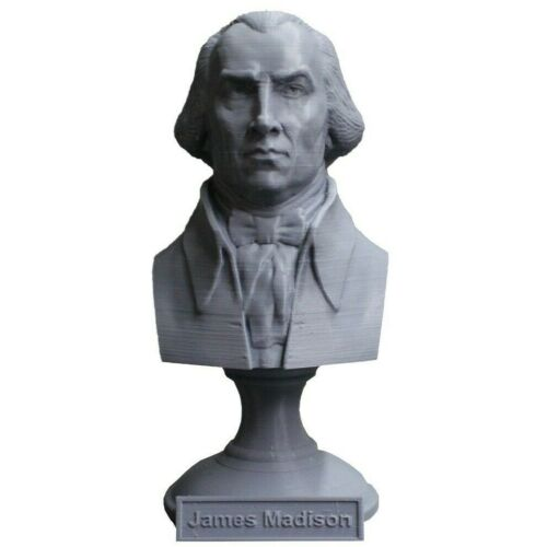 James Madison 5 inch 3D Printed Bust DC President #4 Art FREE SHIPPING