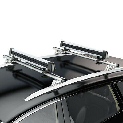 6 Pair Ski Carrier - Universal Ski Roof Rack Carriers For Crossbar Carry 4 Snowboard/ 6 Pair Skis