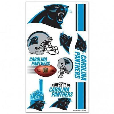 Carolina Panthers Temporary Tattoo Sheet [NEW] NFL Tattoos Face Sticker Decal](Carolina Panthers Tattoo)