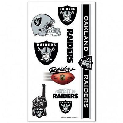 Oakland Raiders Temporary Tattoo Sheet [NEW] NFL Tattoos Face Sticker Decal](Raiders Tattoos)
