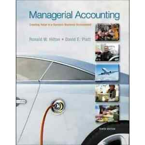 Managerial Accounting By Ronald W. Hilton Hardcover Tenth Edition Waterloo Inner Sydney Preview
