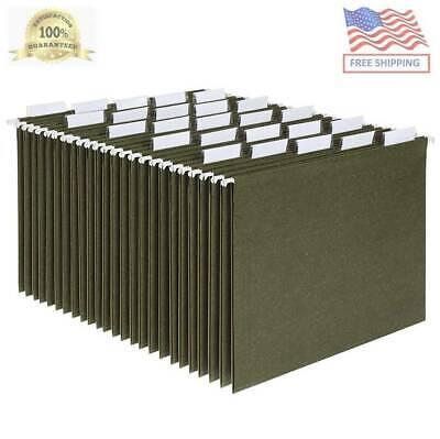 Hanging Organizer File Cabinet Folders Letter Size Green 25-pack Folder Hange