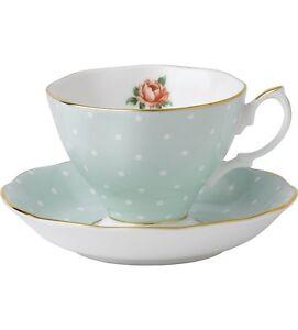 Polka Rose Royal Albert Duo Saucer Teacup Tea Auchenflower Brisbane North West Preview