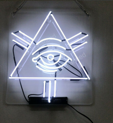 "Eye Triangle Neon Sign Acrylic Gift Light Lamp 17""x17"""