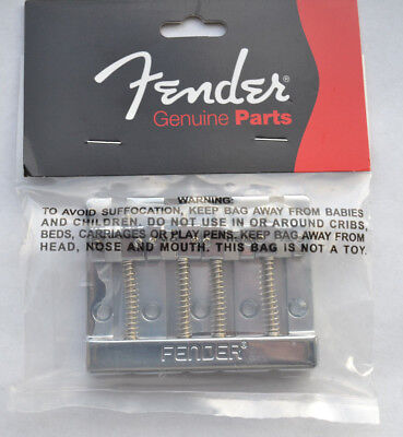 CHROME 008-1460-049 NEW Genuine Fender Hi-Mass Bass Bridge