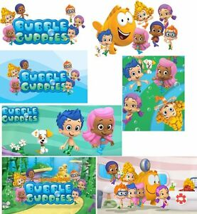 *****7 GREAT BUBBLE GUPPIES *******  ***FABRIC/T-SHIRT IRON ON TRANSFERS