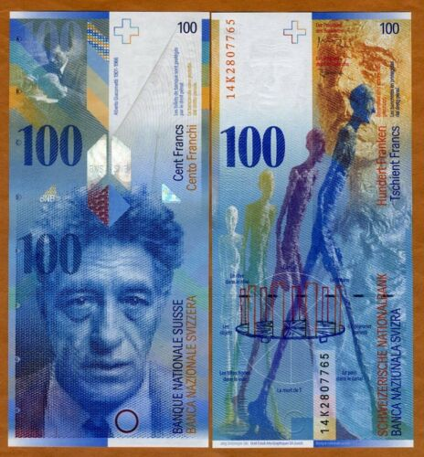 Switzerland, 100 Francs, 2014, P-72,  UNC