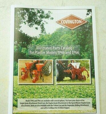 Covington 1 Or 2 Row Vegetable Planter Fertilizer Owners Manual Parts List