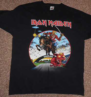 Iron Maiden Size XL Download Festival Donington T Shirt Dated Rare 2013