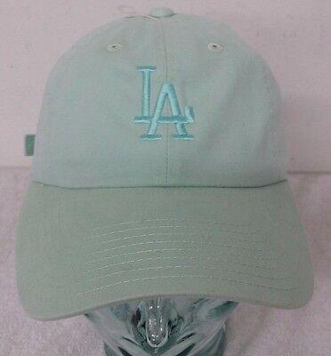 Los Angeles Dodgers Light Mint Blue Color Women's Adjustable Strap Curve Hat