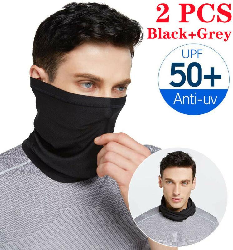 2 Pack Sun UV Protection Bandana Neck Gaiter Face Cover Scarf Headband Hiking