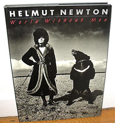 SIGNED Helmut Newton World Without Men Fashion Designers Women 1st ED HC DJ