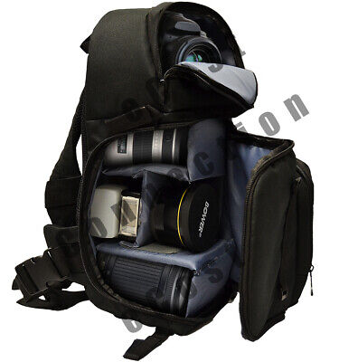 Camera Sling Style Backpack Bag for Canon Nikon Sony DSLR & Mirrorless