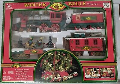 1997 'New Bright Winter Belle Train Set' Large Musical Animated Christmas