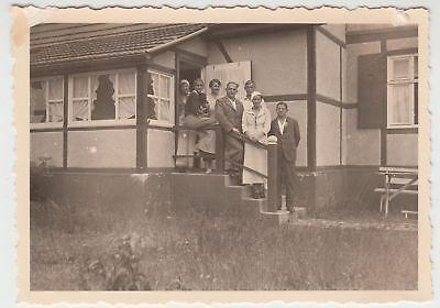 (F17094) Orig. Foto Trassenheide, auf der Veranda der Martins-Klause 1936