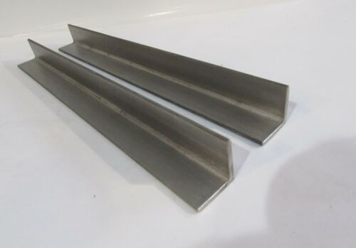 "1"" X 1"" X 1/8"" 304 STAINLESS STEEL ANGLE--9-3/8""--3 PIECE LOT"
