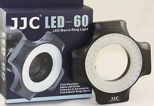 60-LED-Macro-Photography-Ring-Light-with-Lens-Adapter-For-Sigma-50mm-105mm-180mm