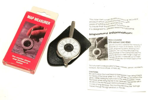 Vintage Map Measurer Inches to Miles Made In Germany Hikers Airman Surveyors NIB
