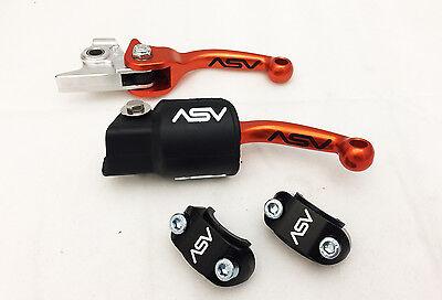 ASV F3 Holiday Pack Shorty Orange  Unbreakable Folding Brake Clutch Levers KTM