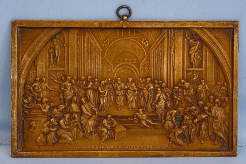 19th C Bronze Plaque Archduke of Austria & Viceroy of Lombardy-Veneto