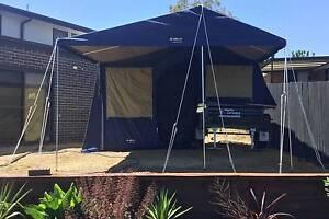 Camper-trailer 7x4 softfloor, 12 ft Oztrail family tent Jerrabomberra Queanbeyan Area Preview