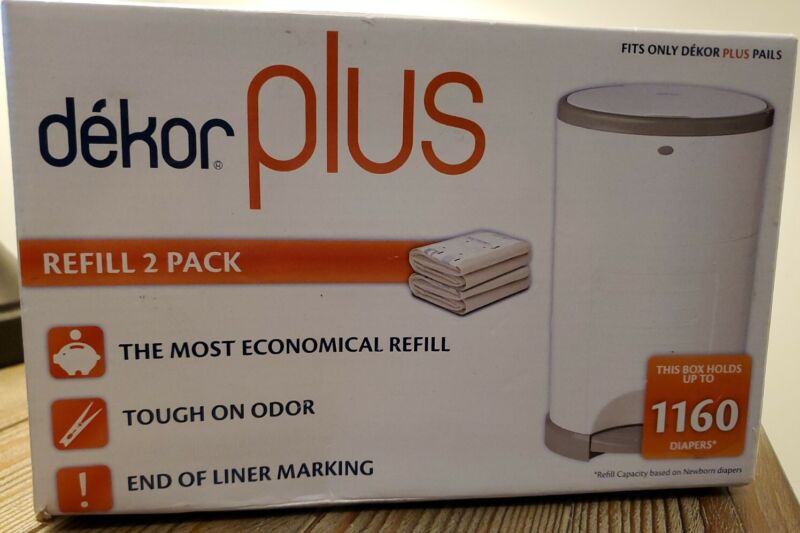 Dekor Plus Diaper Pail Refill - 2 Pack Holds Up To 1160 Diapers