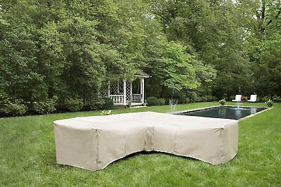 Sectional Cover Sofa | Waterproof Outdoor Furniture | L-Shaped Sectional |Gray