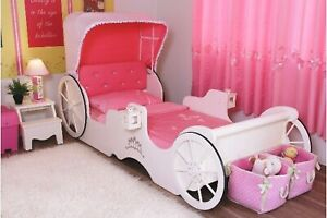 Princess solid bed with mattress