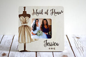Personalized Picture Frame Maid Of Honor Gift Bridesmaid Gifts Wedding