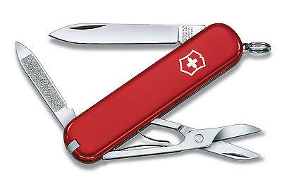 NEW VICTORINOX SWISS ARMY KNIFE AMBASSADOR RED IN THE ORIGINAL BOX 53681