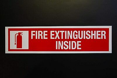 Fire Extinguisher Inside Sticker Vinyl Decal 8 X 2 Self Adhesive Safety Ps44