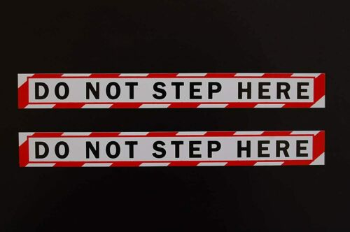 """(2 Pack) No Step Sticker Vinyl Decal -Warning Safety Compliance 8"""" X 1"""" (PS85X2)"""