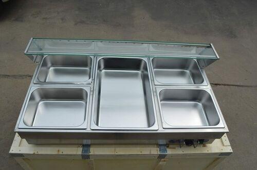 "Food Equipment:Commercial Food Warmer 5-Pan Electric Food Warmer 40.5"" Long Hot"