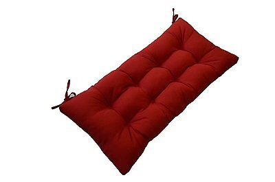 Tufted Cushion (Indoor / Outdoor Solid Red Tufted Cushion for Bench Swing Glider -  Select Size )